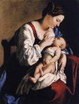 adonna-and-Child-artist-Orazio-Gentileschi